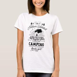 Campings-ein bisschen Mädchen T-Shirt