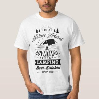 Campings-ein bisschen Typ T-Shirt