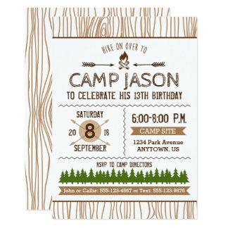 Campings-Geburtstags-Einladung Karte