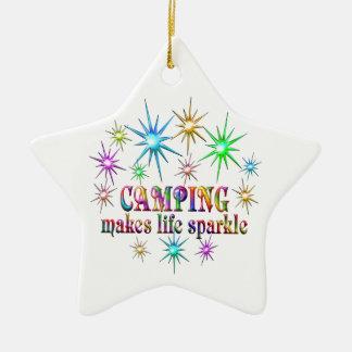 Campings-Glitzern Keramik Stern-Ornament