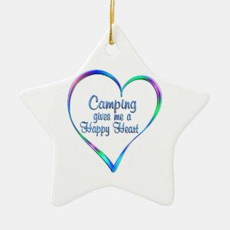 Campings-glückliches Herz Keramik Stern-Ornament