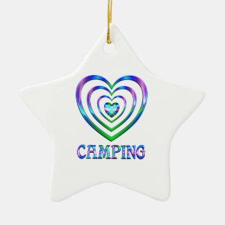 Campings-Herzen Keramik Stern-Ornament