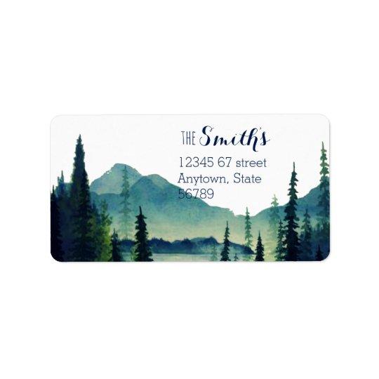 Campings-Hochzeits-Rücksendeadressen-Aufkleber Adressetiketten