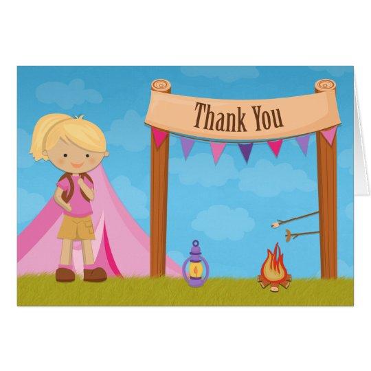 Campings-Party danken Ihnen zu kardieren Karte