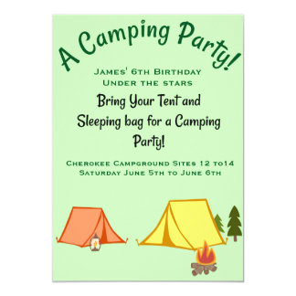Campings-Party Karte