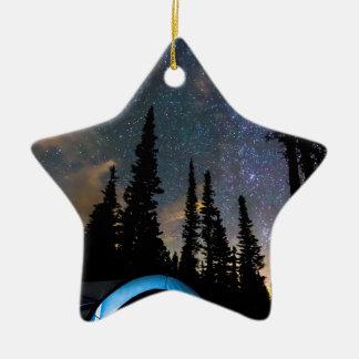 Campings-Stern-Licht-Stern hell Keramik Ornament