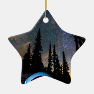 Campings-Stern-Licht-Stern hell Keramik Stern-Ornament