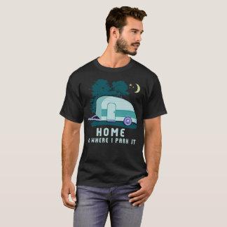 Campings-Zuhauseteardrop-Anhänger T-Shirt