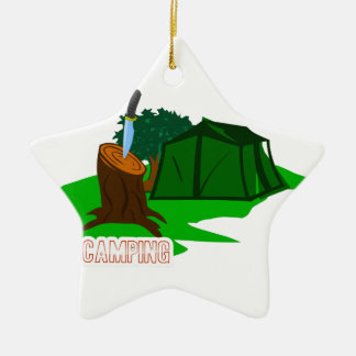 Campingsmesser und -zelt keramik Stern-Ornament