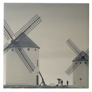 Campo de Criptana, antike La Mancha Windmühlen 2 Keramikfliese