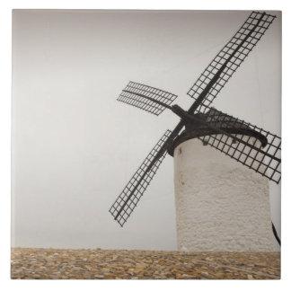 Campo de Criptana, antike La Mancha Windmühlen Fliese