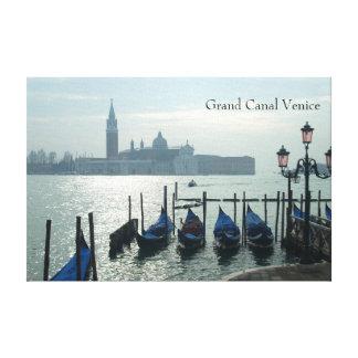 Canal Grande-Venedig-Gondeln Leinwanddruck