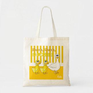 Canard, canard, thème de crèche d'oie sac en toile budget