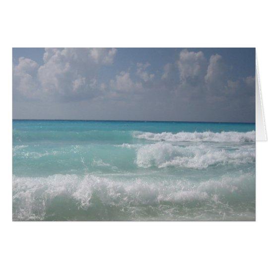 Cancun bewegt Gruß-Karte wellenartig Karte