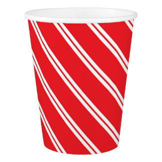 Candy Cane Paper Cup- Winter Wonderland Paper Cup Pappbecher
