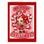 Candycane-Chan-Weihnachtskarte Grußkarte