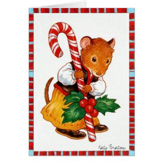 Candycane Maus Grußkarte