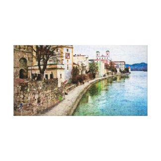 Canevas Druck von Passau, Deutschland Leinwanddruck