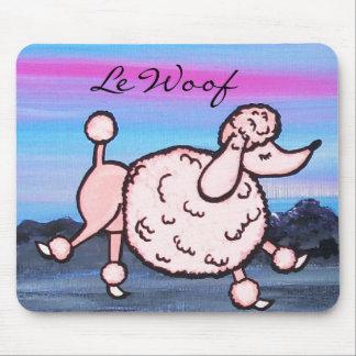 Caniche de Le Woof Pink à Paris Tapis De Souris
