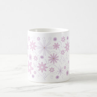 Cannelle fleurs mug blanc