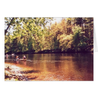 """Canoeing entlang dem Contoocook Fluss "" Karte"