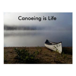 Canoeing ist Lebenpostkarte Postkarte