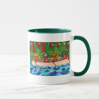Canoeing Katzen Tasse