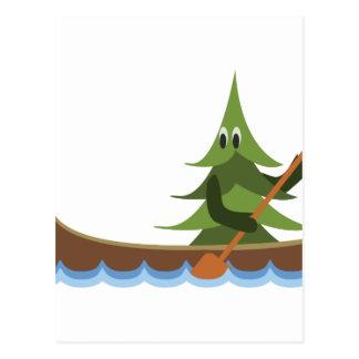 Canoeing Kiefer Postkarte