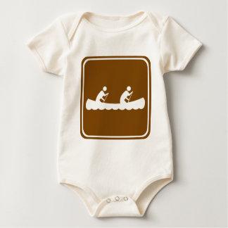 Canoeing Landstraßen-Zeichen Baby Strampler