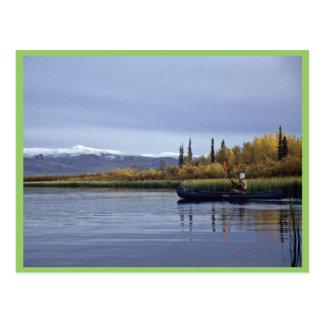 Canoeing Postkarte