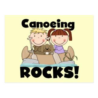 Canoeing schaukelt zwei T-Shirts und Geschenke Postkarte