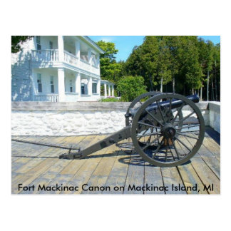 Canon am Fort Mackinac Postkarte