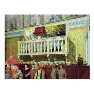 Cantoria in der Sistine Kapelle Postkarte