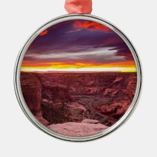Canyon de Chelly, Sonnenuntergang, Arizona Silbernes Ornament