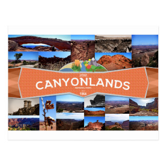 Canyonlands Nationalpark-Postkarte Postkarte