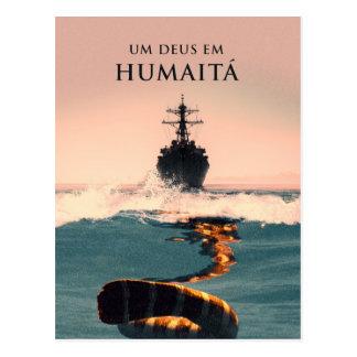 """Capa tun livro """"Um Deus EM Humaitá """" Postkarte"""