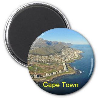 Cape Town-Magnet Runder Magnet 5,7 Cm