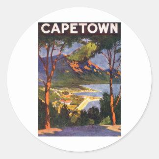 Cape Town Runder Aufkleber