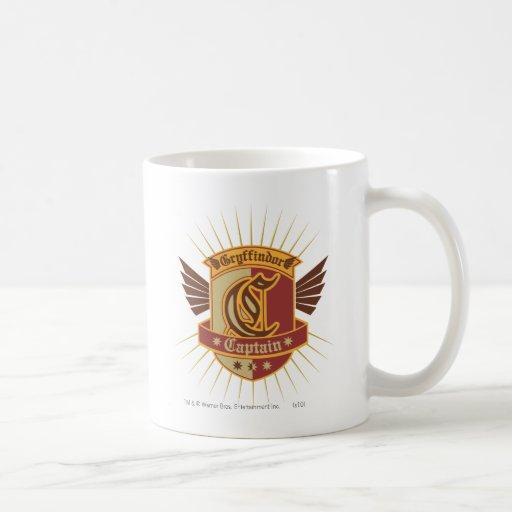 Capitaine Emblem de Gryffindor Quidditch Mugs À Café