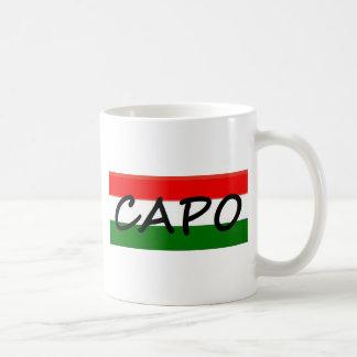CAPO, Capo bedeutet CHEF! auf italienisches und Tasse