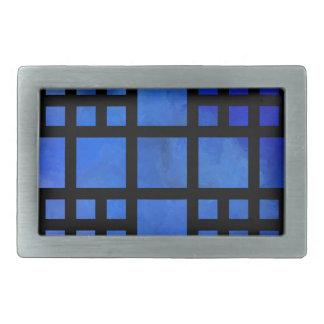 Cappanella V1 - blaue Quadrate Rechteckige Gürtelschnallen