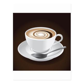 Cappuccino mit Strudel Postkarte