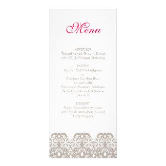 Cappuccino-Spitze-Hochzeits-Menü Kartendruck
