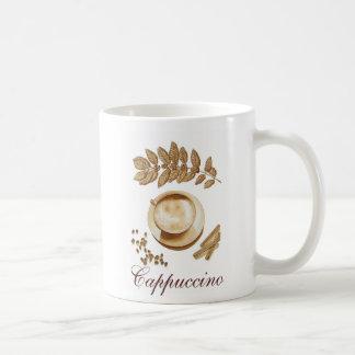 Cappuccino und Zimt Kaffeetasse