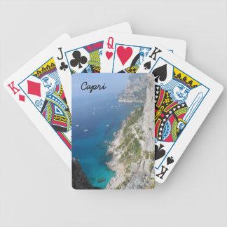 Capri, Italien Bicycle Spielkarten