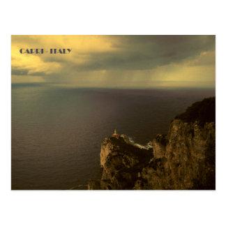 Capri - Punta Carena Leuchtturm Postkarte