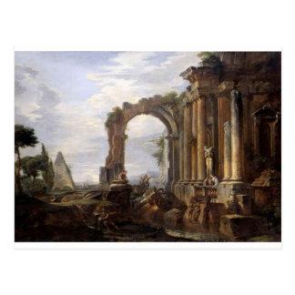 Capriccio der klassischen Ruinen Giovanni Paolo Postkarte