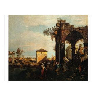 Capriccio mit Ruinen und Porta Portello in Padua Postkarte