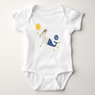 Capricorn sea goat baby bodysuit zodiac star sign baby strampler