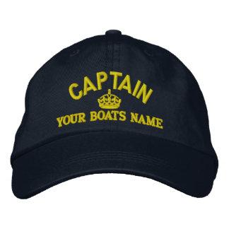 Captains Text mit Krone Bestickte Baseballkappe